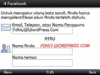 Facebook# Masukan Email